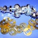 Mágneses táskakapocs (24/C minta/1 db) - ezüst, Gyöngy, ékszerkellék, Ékszerkészítés,      Mágneses táskakapocs (24/C minta) - ezüst színben Mérete: Ø 15 mm   Az ár egy darab termékre v..., Alkotók boltja