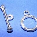T-kapocs (336/E minta/1 db) - 12 mm, Gyöngy, ékszerkellék, Ékszerkészítés,  T-kapocs (336/E minta) - ezüst színben  Méretei:Karika: 12 mmRúd: 20 mm  Az ár 1 darab termékre vo..., Alkotók boltja