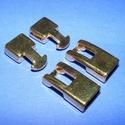 Kapocs (318/B minta/1 db), Gyöngy, ékszerkellék, Ékszerkészítés,  Kapocs (318/B minta) - arany színben  A kapocs elsősorban bőr karperecek készítéséhez használható ..., Alkotók boltja