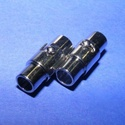 Mágneses kapocs (321. minta/1 db), Gyöngy, ékszerkellék, Ékszerkészítés,  Mágneses kapocs (321. minta) - nikkel színben  A kapocs elsősorban bőr karperecek készítéséhez ajá..., Alkotók boltja