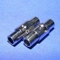 Mágneses kapocs (323. minta/1 db), Gyöngy, ékszerkellék, Ékszerkészítés,  Mágneses kapocs (323. minta) - nikkel színben  A kapocs elsősorban bőr karperecek készítéséhez ajá..., Alkotók boltja