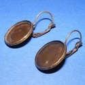 Fülbevaló alap (251. minta/2 db), Gyöngy, ékszerkellék, Ékszerkészítés,  Fülbevaló alap (251. minta) - akasztható - bronz színben  Mérete: 32x18 mm A termékeim között tal..., Alkotók boltja