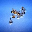 Fülbevaló alap (260/C minta/2 db) - 8 mm, Gyöngy, ékszerkellék, Ékszerkészítés,  Fülbevaló alap (260/C minta) - stiftes - arany színben  Mérete: 8 mm; a tüske mérete: 11 mm Rende..., Alkotók boltja
