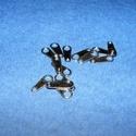 Lapka (K86. minta/10 db) - fekete, Gyöngy, ékszerkellék, Alkotók boltja