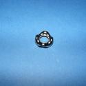 Mega-27 (hullámos karika/1 db), Gyöngy, ékszerkellék,  Mega-27 - hullámos karika  Mérete: 16 mm (belső méret: 8 mm)  Az alkatrész anyaga műanyag, ..., Alkotók boltja