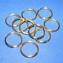 Szerelőkarika (1006/B minta/10 db) - 14x1,2 mm, Gyöngy, ékszerkellék, Ékszerkészítés,  Szerelőkarika (1006/B minta) - szimpla - arany színben  Mérete: 14x1,2 mm Az ár 10 db termékre vo..., Alkotók boltja