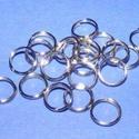 Szerelőkarika (1011/Magdi minta/20 db) - 7 mm, Gyöngy, ékszerkellék,  Szerelőkarika (1011/Magdi minta) - nikkel színben  A második kör vége nincs teljesen egy vonal..., Alkotók boltja