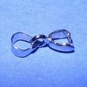Medáltartó (354/S minta/1 db), Gyöngy, ékszerkellék,  Medáltartó (354/S minta) - ezüst színben  Mérete: 13x4mm Az ár 1 db medál rögzítőre vona..., Alkotók boltja