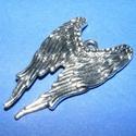 Angyalszárny (718. minta/1 db), Gyöngy, ékszerkellék, Ékszerkészítés,  Angyalszárny (718. minta) - antik ezüst színben- ólommentes -   Mérete: 39x24x2 mmAz akasztó lyuk ..., Alkotók boltja