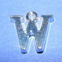 Medál (1 db) - W betű, Gyöngy, ékszerkellék,  Medál (W betű) - ezüst színben  Mérete: 14,5x14x2 mm  Az ár 1 darab termékre vonatkozik...., Alkotók boltja