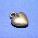 Medál (520. minta/1 db) - szív, Gyöngy, ékszerkellék,  Medál (520. minta) - szív - ezüst színben  Mérete: 12x10x4 mmAz ár 1 db termékre vonatkozik...., Alkotók boltja