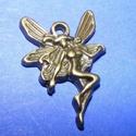 Medál (529. minta/1 db) - tündér, Gyöngy, ékszerkellék,  Fém medál (529. minta) - tündér - antik bronz színben  Mérete: 20x15 mm  Az ár egy darab ter..., Alkotók boltja