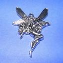 Medál (533. minta/1 db) - tündér, Gyöngy, ékszerkellék,  Medál (533. minta) - tündér - ezüst színben  Mérete: 42x30 mm Az ár 1 db termékre vonatkoz..., Alkotók boltja