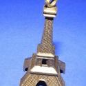 Medál (534. minta/1 db) - Eiffel-torony, Gyöngy, ékszerkellék,  Medál (534. minta) - Eiffel-torony - antik bronz színben  Mérete: 47x22,5 mm Az ár 1 db termé..., Alkotók boltja