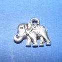 Medál (541. minta/1 db) - elefánt, Gyöngy, ékszerkellék, Ékszerkészítés,  Medál (541. minta) - elefánt - ezüst színben  Mérete: 12x14x2,5 mm  Az ár egy darab termékre..., Alkotók boltja