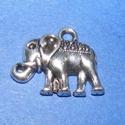 Medál (543. minta/1 db) - elefánt, Gyöngy, ékszerkellék,  Medál (543. minta) - elefánt - ezüst színben  Mérete: 17x13 mmAz ár 1 db termékre vonatkozik..., Alkotók boltja