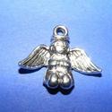Medál (588. minta/1 db) - angyal, Gyöngy, ékszerkellék,  Medál (588. minta) - angyal - ezüst színben  Mérete: 25x25x3 mm Az ár 1 db termékre vonatkoz..., Alkotók boltja