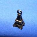 Medál (610/A minta/1 db) - Eiffel-torony, Gyöngy, ékszerkellék,  Medál (610/A minta) - Eiffel-torony - bronz színben  Mérete: 10x5x5 mm  Az ár 1 darab termékre..., Alkotók boltja