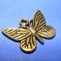 Medál (620. minta/1 db) - pillangó, Gyöngy, ékszerkellék,  Medál (620. minta) - pillangó - arany színben  Mérete: 16x12,5x2 mm Az ár 1 db termékre vona..., Alkotók boltja