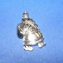 Medál (682/A minta/1 db) - télapó, Gyöngy, ékszerkellék,  Medál (682/A minta) - télapó - antik ezüst színű  Mérete: 25x15 mm  Az ár egy darab termék..., Alkotók boltja