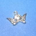Medál (682/C minta/1 db) - angyal, Gyöngy, ékszerkellék, Ékszerkészítés,  Medál (682/C minta) - angyal - antik ezüst színben  Mérete: 20x15x3 mm  Az ár egy darab termékre v..., Alkotók boltja