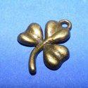 Medál (711. minta/1 db) - lóhere, Gyöngy, ékszerkellék,  Medál (711. minta) - lóhere - bronz színben  Mérete: 19x14x2 mm Az ár 1 db termékre vonatkoz..., Alkotók boltja