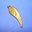 Szárny (551/A minta/1 db), Gyöngy, ékszerkellék,  Szárny (551/A minta) - arany színben  Mérete: 30x9 mm  Az ár egy darab termékre vonatkozik. , Alkotók boltja