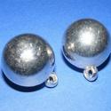 Felületkezelt műanyag medál-3 (akasztható gömb/1 db), Gyöngy, ékszerkellék,  Felületkezelt műanyag medál-3 - akasztható gömb  Mérete: 25 mm Az ár egy darab alkatrészre..., Alkotók boltja
