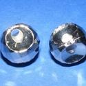 Felületkezelt műanyag medál-61 (lapolt gömb/1 db), Gyöngy, ékszerkellék,  Felületkezelt műanyag medál-61 - lapolt gömb, akasztós  Mérete: 18 mm (a furat: 3 mm) Az ár..., Alkotók boltja