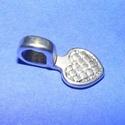 Medálrögzítő (352. minta/1 db), Gyöngy, ékszerkellék,  Medálrögzítő (352. minta) - ragasztható  - antik ezüst színben  Mérete: 15x8 mmA ragaszthat..., Alkotók boltja