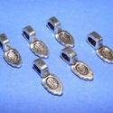 Medálrögzítő (353/F minta/1 db), Gyöngy, ékszerkellék, Ékszerkészítés,  Medálrögzítő (353/F minta) - ragasztható - antik ezüst színben  Mérete: 16x6 mmA ragasztható rész:..., Alkotók boltja