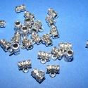 Medálvezető (363 minta/1 db), Gyöngy, ékszerkellék,  Medálvezető (363 minta) - ezüst színben  Mérete: 8x5 mm (+ az akasztó karika: 3 mm)  A furat ..., Alkotók boltja