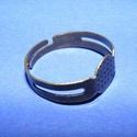 Gyűrű alap (25/A minta/1 db),  Gyűrű alap (25/A minta) - bronz színben  Mére...