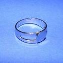 Gyűrű alap (27/A minta/1 db), Gyöngy, ékszerkellék,  Gyűrű alap (27/A minta) -  ragasztható - nikkel színben  Mérete: 17 mm (tárcsa mérete: 7 mm)  Az ár..., Alkotók boltja