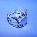 Gyűrű alap (54. minta/1 db), Gyöngy, ékszerkellék,  Gyűrű alap (54. minta) - ragasztható - ezüst színben  A tárcsa átmérője: 8 mm  Az á..., Alkotók boltja