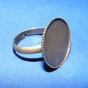 Gyűrű alap (11. minta/1 db), Gyöngy, ékszerkellék, Ékszerkészítés,  Gyűrű alap (11. minta) - ragasztható - antik bronz színben  A tárcsa átmérője: 19 mm; a perem maga..., Alkotók boltja