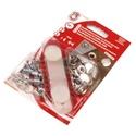 Fém patentozó készlet-2 (Ø 15 mm/1 készlet), Gomb,  Fém patentozó készlet-2 - nikkel színben - kétrészes 0,5-2 mm vastagságú (középerős) any..., Alkotók boltja