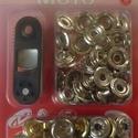Fém patentozó készlet-6/A (Ø 15 mm/1 készlet), Gomb,  Fém patentozó készlet-6/A - nikkel színben - kétrészes1-3 mm vastagságú anyagokhoz használ..., Alkotók boltja