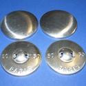 Fém gomb alap (1. méret/1 db), Gomb, Varrás,  Fém gomb alap (1. méret)  A csomag tartalma 1 db behúzható fém (alumínium) gomb alap (alsó és fels..., Alkotók boltja