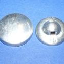 Fém gomb alap (6. méret/1 db), Gomb, Varrás,  Fém gomb alap (6. méret)  A csomag tartalma 1 darab behúzható fém (alumínium) gomb alap (alsó és f..., Alkotók boltja