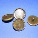 Gomb alap (151. minta/1 db), Gomb, Varrás,  Fém gomb alap (151. minta) - antik bronz színben  A gomb mérete: 16 mmHozzáillő üveglencse mérete:..., Alkotók boltja
