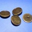 Gomb alap (152. minta/1 db), Gomb, Varrás,  Fém gomb alap (152. minta) - antik bronz színben  A gomb mérete: 18 mmHozzáillő üveglencse mérete:..., Alkotók boltja