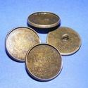 Gomb alap (153. minta/1 db), Gomb, Varrás,  Fém gomb alap (153. minta) - antik bronz színben  A gomb mérete: 20 mmHozzáillő üveglencse mérete:..., Alkotók boltja