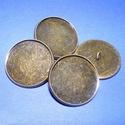 Gomb alap (155. minta/1 db), Gomb, Varrás,  Fém gomb alap (155. minta) - antik bronz színben  A gomb mérete: 24 mmHozzáillő üveglencse mérete:..., Alkotók boltja
