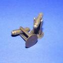 Mandzsettagomb alap (159. minta/2 db), Gomb, Varrás,  Mandzsettagomb alap (159. minta) - antik bronz színben  A gomb mérete: 24 mm (a teljes hosszúság) ..., Alkotók boltja