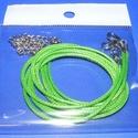 Bőrutánzat nyaklánc alap (2. minta/1 db) - világoszöld, Gyöngy, ékszerkellék,  Bőrutánzat nyaklánc alap (2. minta) - világoszöldA szerelékek nikkel színűek.A nyaklánc ho..., Alkotók boltja