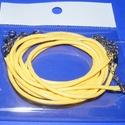 Bőrutánzat nyaklánc alap (5. minta/1 db) - citromsárga, Gyöngy, ékszerkellék,  Bőrutánzat nyaklánc alap (5. minta) - citromsárgaA szerelékek nikkel színűek.A nyaklánc hos..., Alkotók boltja