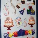 Decoupage transfer (1 db) - születésnapi motívumok, Vegyes alapanyag, Mindenmás,    Decoupage transfer - Happy birthday - születésnapi motívumok - 16 db minta + 1 db faspatula  Átd..., Alkotók boltja