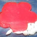 Dekorációs virágok (nagy) - piros, Vegyes alapanyag, Mindenmás,  Dekorációs virágok - nagy - piros  Műanyag dekorációs virágok - bármilyen célra. A csomagban talál..., Alkotók boltja