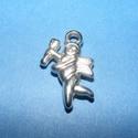 Felületkezelt műanyag medál (K43. minta/1 db) - angyal, Vegyes alapanyag, Mindenmás,  Felületkezelt műanyag medál (K43. minta) - angyal - ezüst színben  KIFUTÓ TERMÉK!  Mérete: 23x15 m..., Alkotók boltja